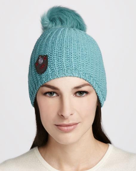 Great Jones Fur-Pompom Hat, Patina