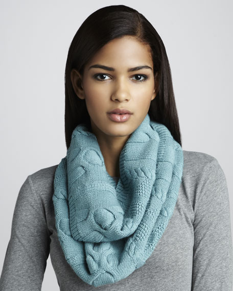 Cable-Knit Infinity Scarf, Patina