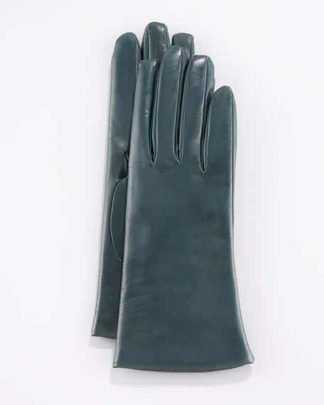 Two-Button Classic Gloves, Graffiti Green