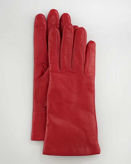 Two-Button Classic Glove, Orange/Amalfi