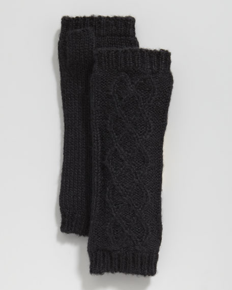 Fingerless Mittens, Black