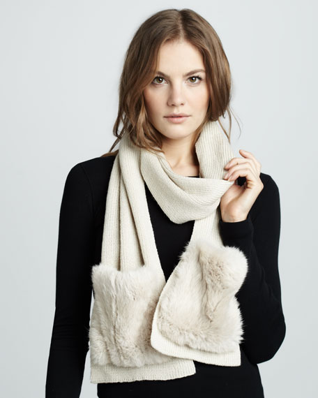 Fur-Pocket Scarf, Oat