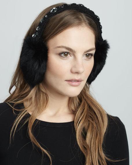 Jewel-Band Fur Earmuffs