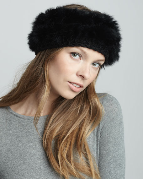 Fur/Knit Headband