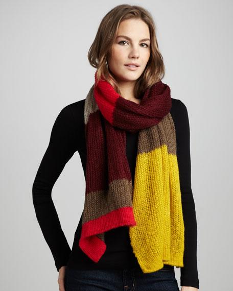 Knit Colorblock Wrap