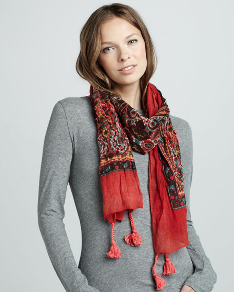 Poppy Road Printed Scarf