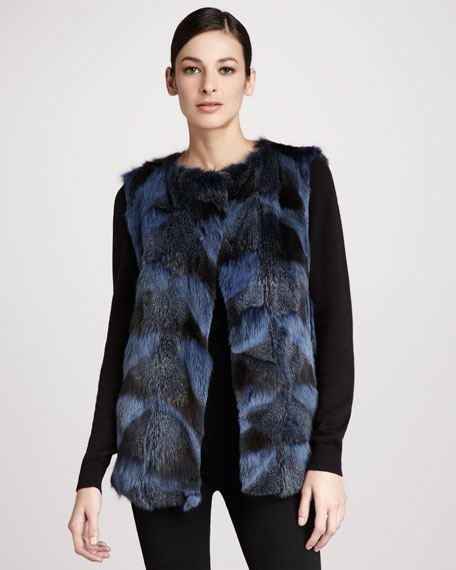 Fox Fur Patch Vest