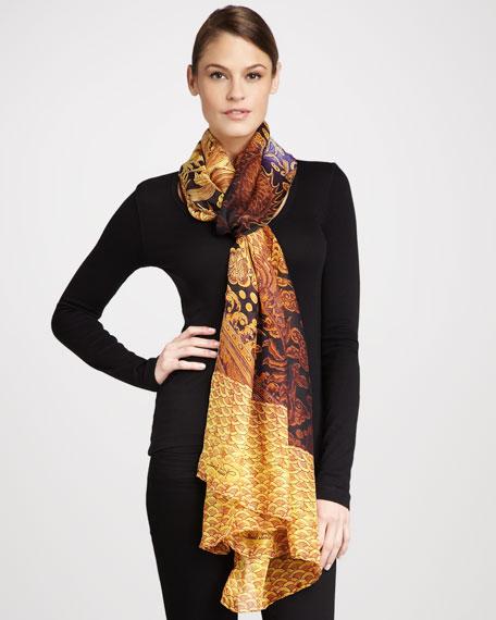 Dragon Silk Chiffon Stole, Gold