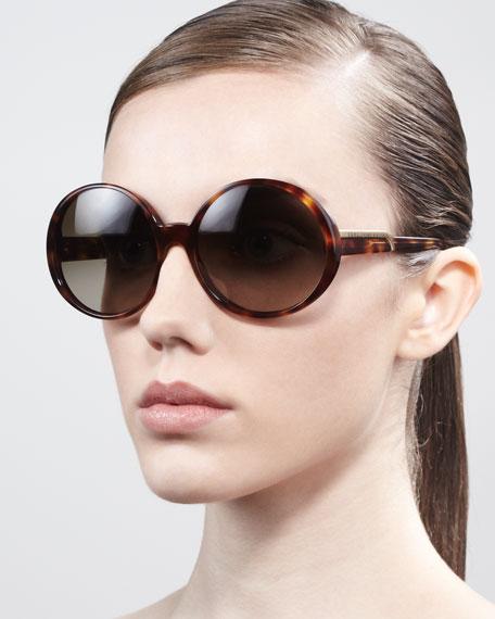 Round Sunglasses, Tortoise