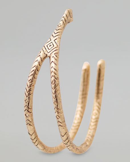 Engraved Wishbone Hoop Earrings
