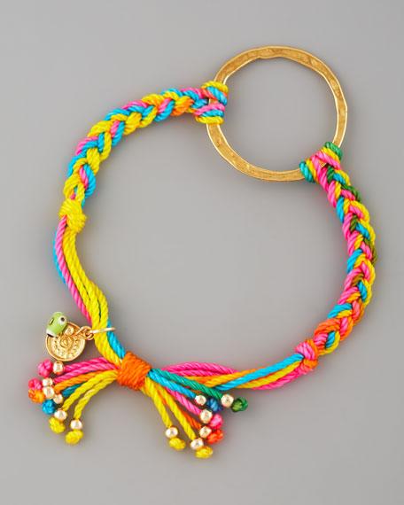 Blee Inara O-Ring Macrame Friendship Bracelet
