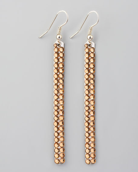 Crystal-Bar Drop Earrings