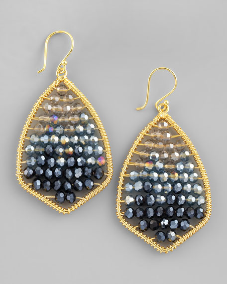 Colorblock Beaded Drop Earrings