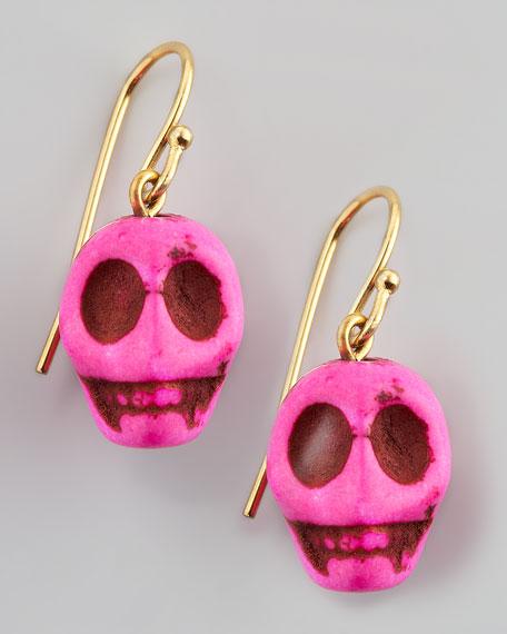 Skull Earrings, Pink