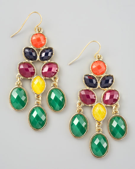 Multicolor Chandelier Earrings