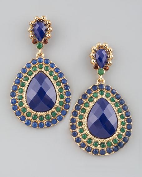 Pave Teardrop Earrings