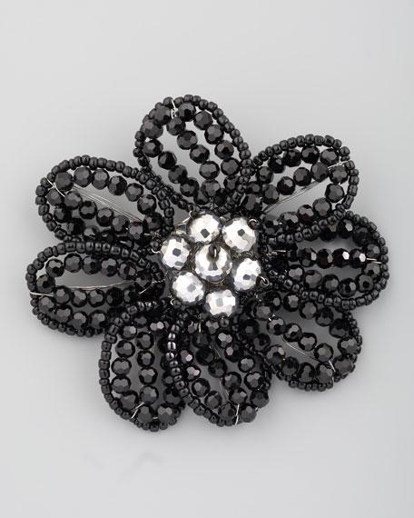 Beaded Floral Brooch