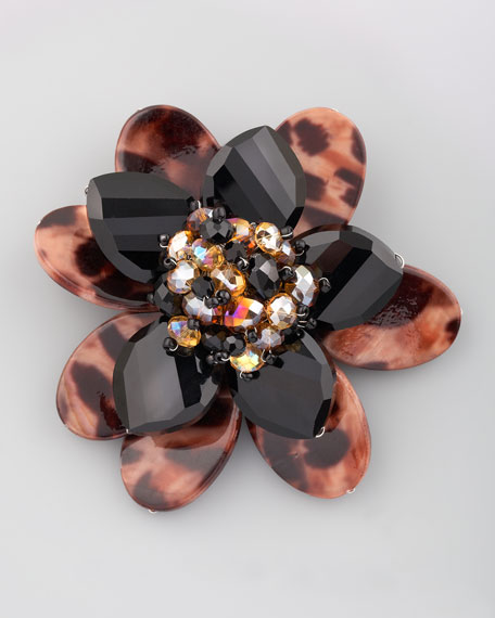 Faceted Floral Brooch