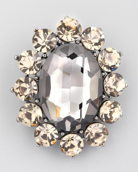 Crystal Brooch Pendant