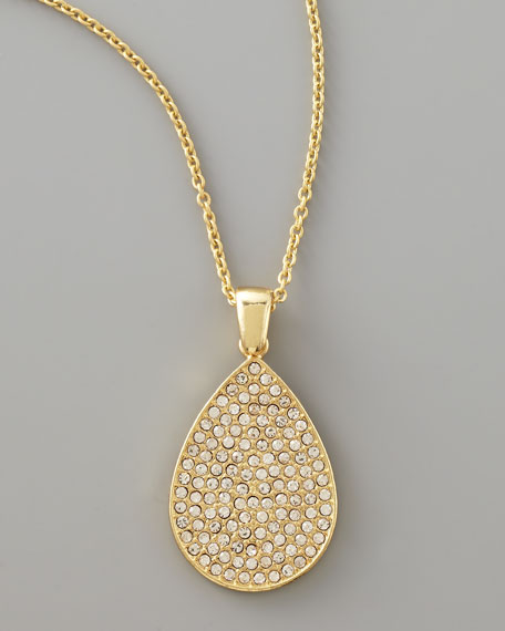 Pave Crystal Pendant Necklace
