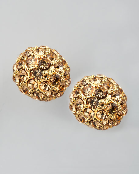 Pave Crystal Stud Earrings