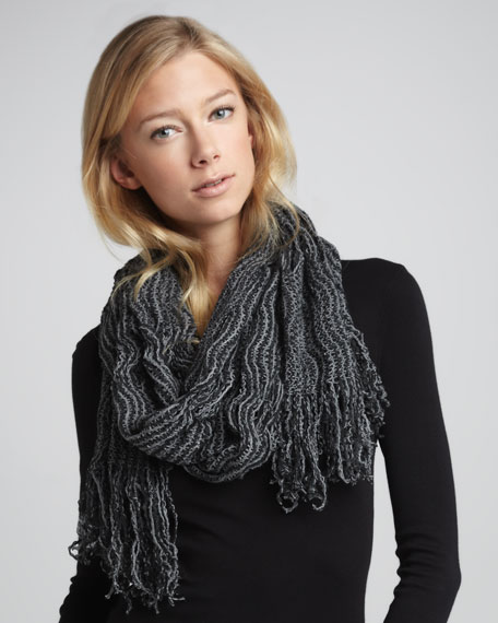 Knit Fringe Scarf