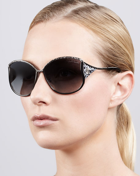 Animal-Temple Butterfly Sunglasses, Gunmetal