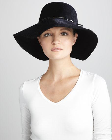 Victoria Rabbit Felt Hat, Black