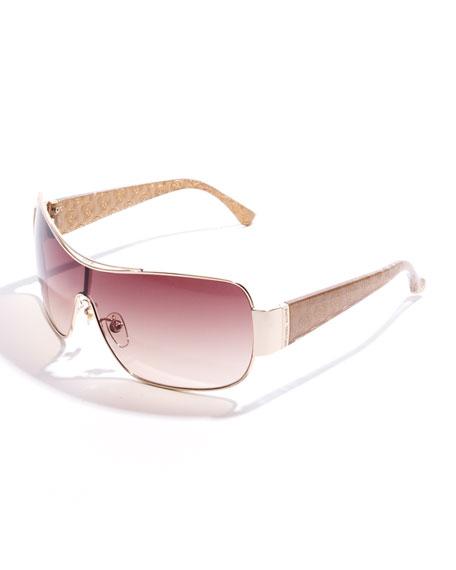 Rae Metal-Rim Sunglasses