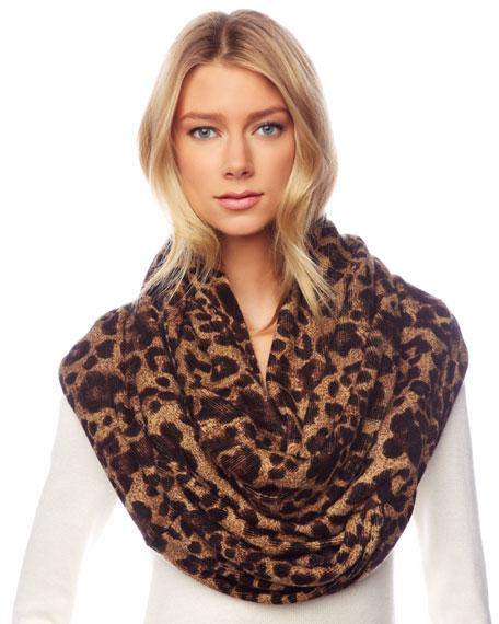 Leopard-Print Infinity Scarf