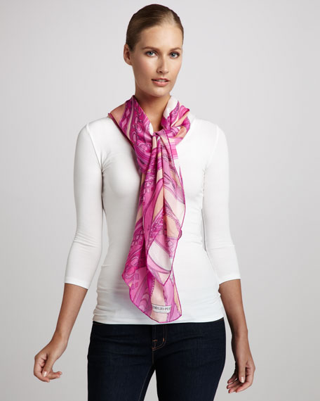 Zagare Voile Stole, Pink