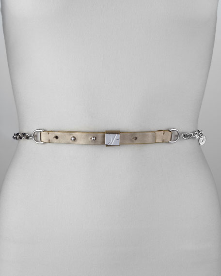 Chain and Metallic Plaque Belt