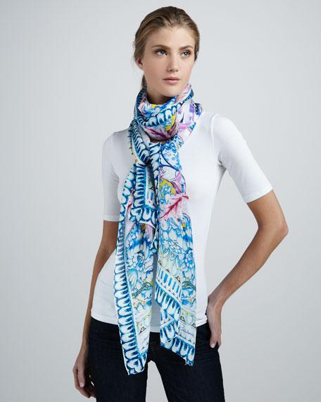 Nausica Printed Silk Scarf