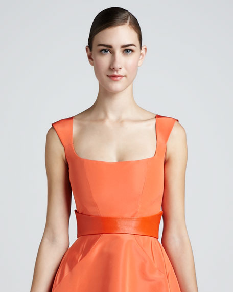 Smooth Leather Belt, Orange