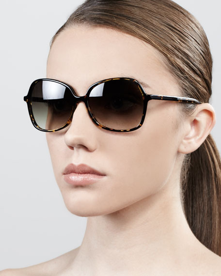 Shrimpton Semi-Square Sunglasses, Heroine Chic