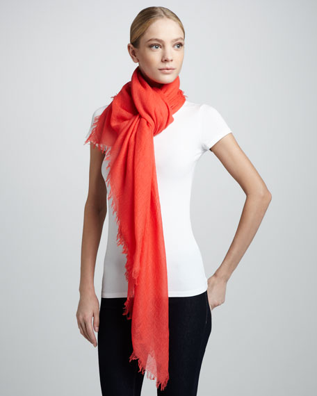 Ultra Lightweight Cashmere Scarf, Watermelon
