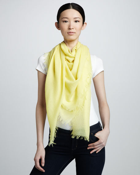 Ultra Lightweight Cashmere Scarf, Lemon