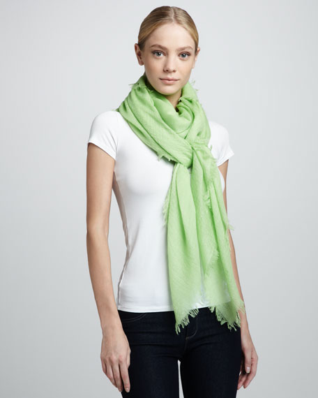 Ultra Lightweight Cashmere Scarf, Lime