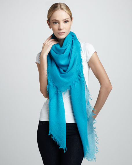 Ultra Lightweight Cashmere Scarf, Teal