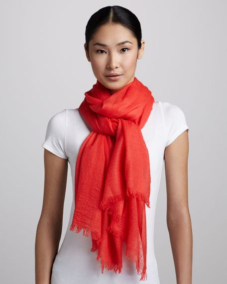 Ultra Lightweight Cashmere Stole, Watermelon
