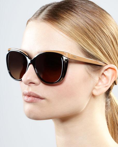 Zucca-Logo Sleek Sunglasses