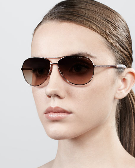 Aviator Sunglasses, Rose Golden
