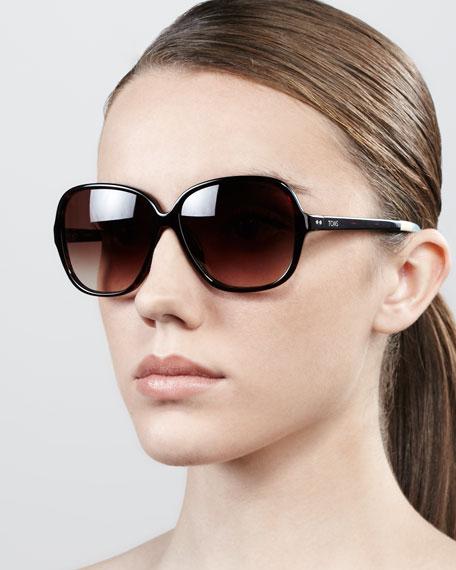 Marisol Square Acetate Sunglasses, Brown