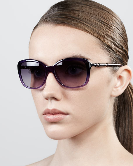 Ombre Butterfly Sunglasses, Purple