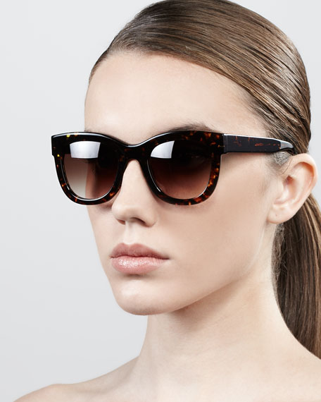 Obsessy Acetate Sunglasses, Dark Havana