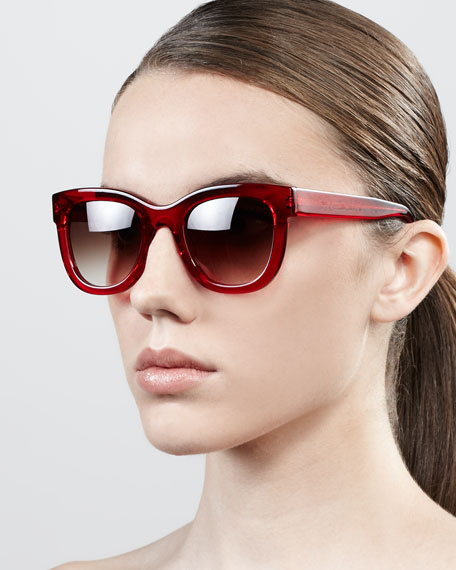 Obsessy Acetate Sunglasses, Red