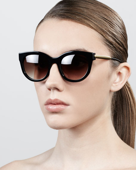 Lively Golden-Temple Sunglasses, Black
