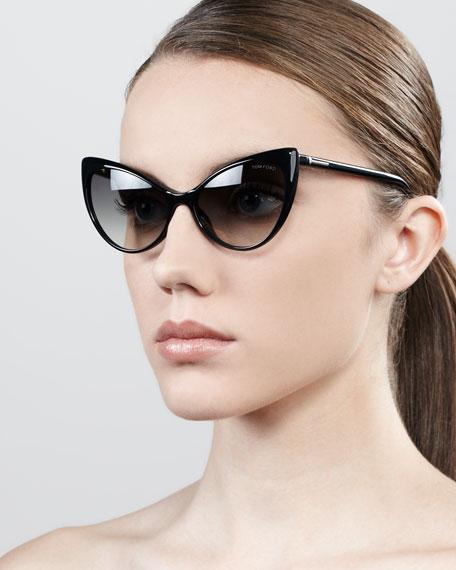Anastasia Sunglasses, Shiny Black