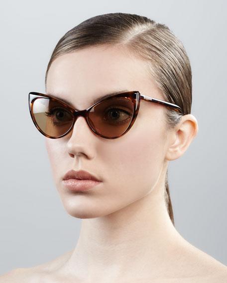 Anastasia Sunglasses, Medium Havana