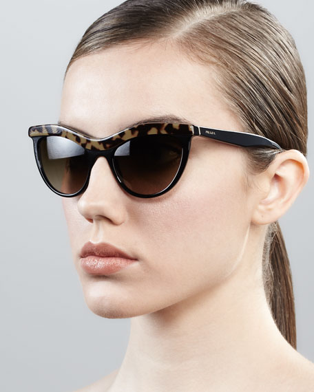 Prada Heritage Cat Eye Sunglasses Tortoise